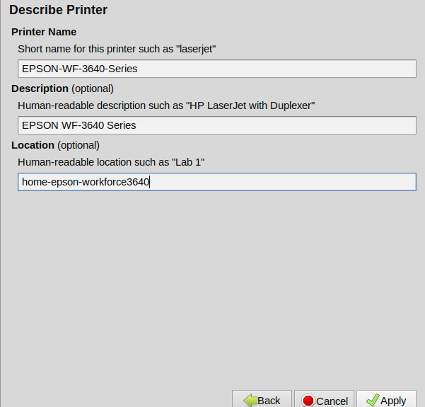 Printer configuration - detecting your printer