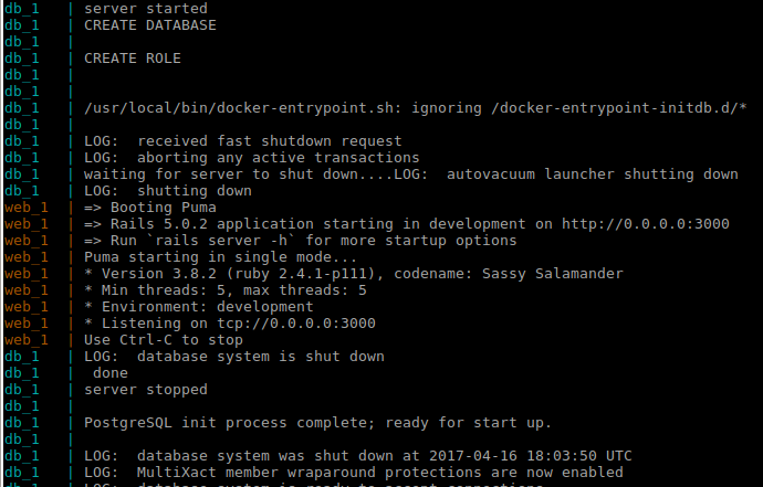 Waiting until Docker containers are initialized